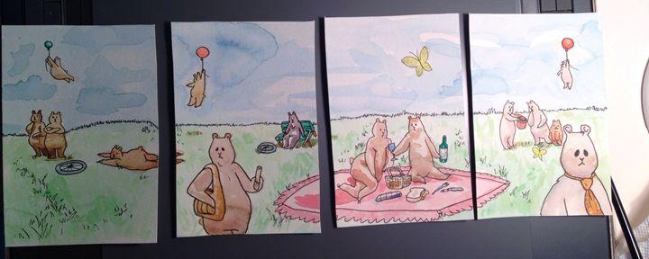 Bears At The Park - Dan Paul Roberts