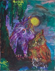 colorful owls by Natalie Shumylo