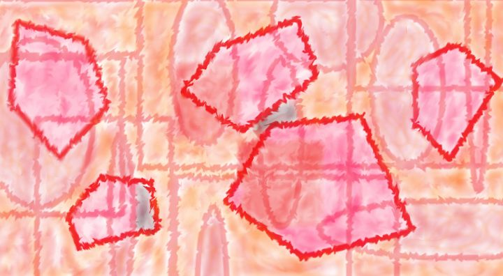 Red carpet - Abstract painting