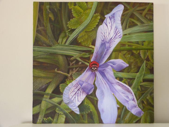 Purple flower - Handan`s paintings