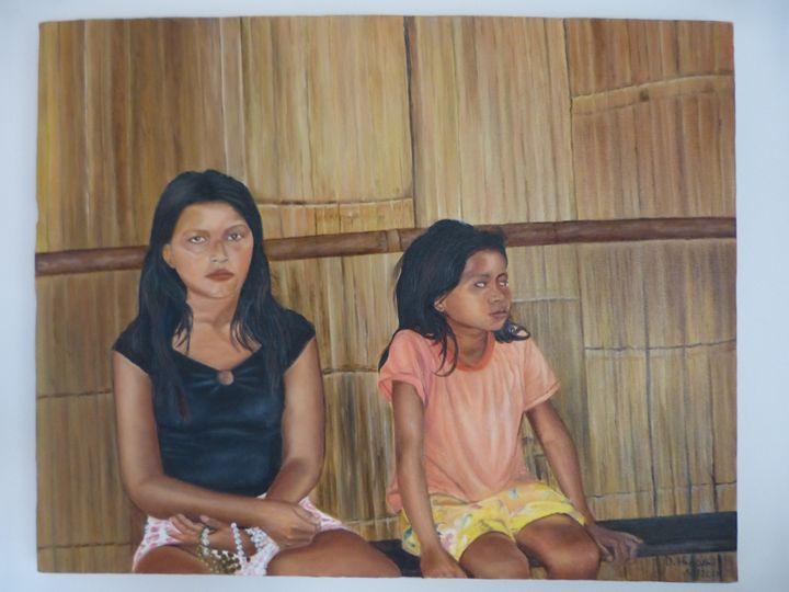 Ecuadorian Girls - Handan`s paintings