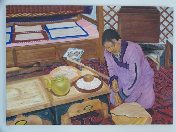 Mongolian woman - Handan`s paintings