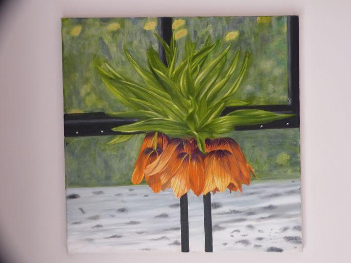 Orange flower - Handan`s paintings