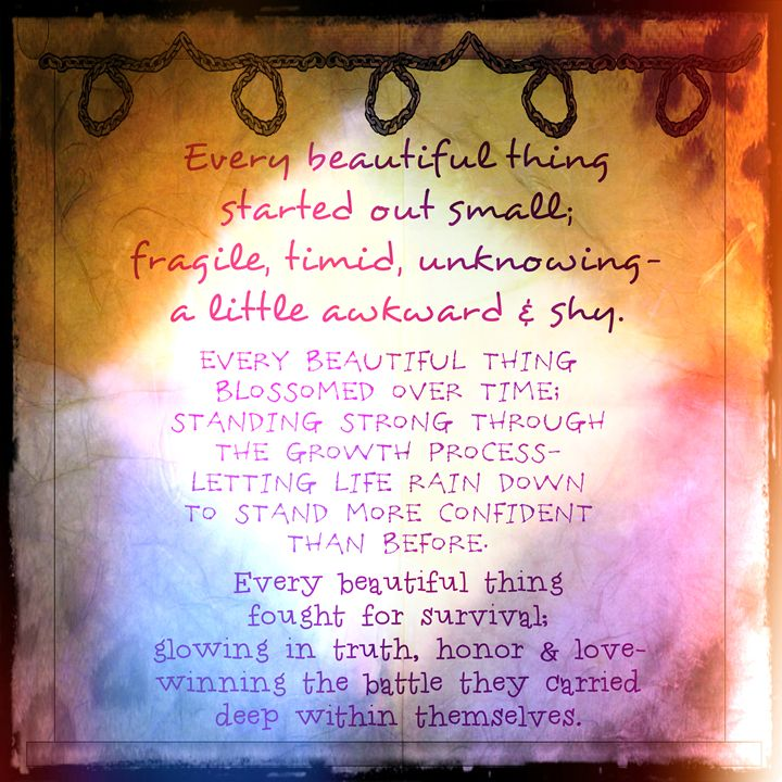 Every Beautiful Thing - SpaceyQT Designs