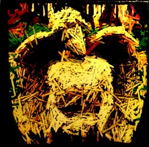 Straw Angel (Mixed-Media)