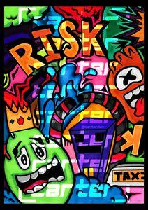 RISK - Cartoon Doodle A3 @CarterDZN
