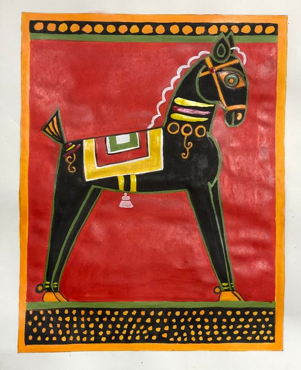 The black horse - Puja