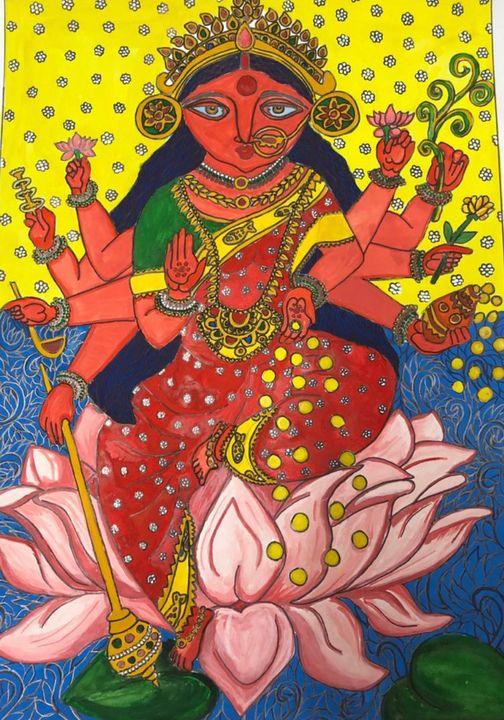Goddess of wealth - Lakshmi - Puja
