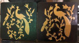Mughal art tea coasters