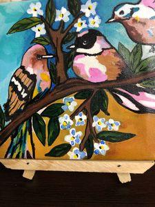 Sparrows on a bush