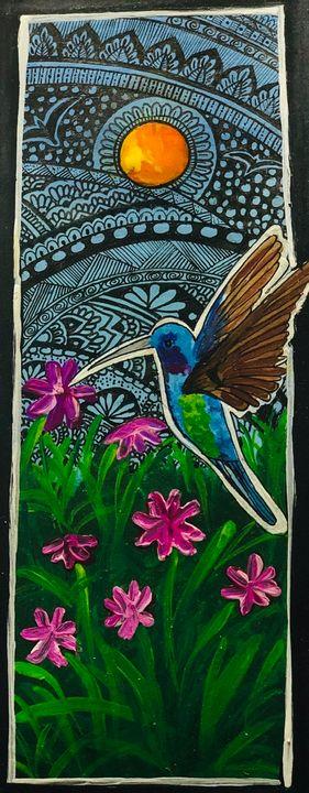 Hummingbird in a garden - Puja
