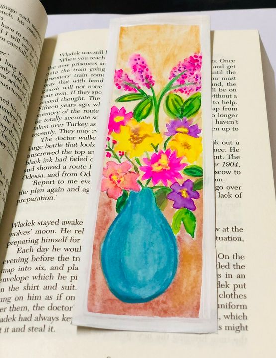 Bouquet of flowers bookmark - Puja