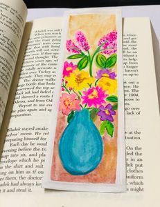 Bouquet of flowers bookmark