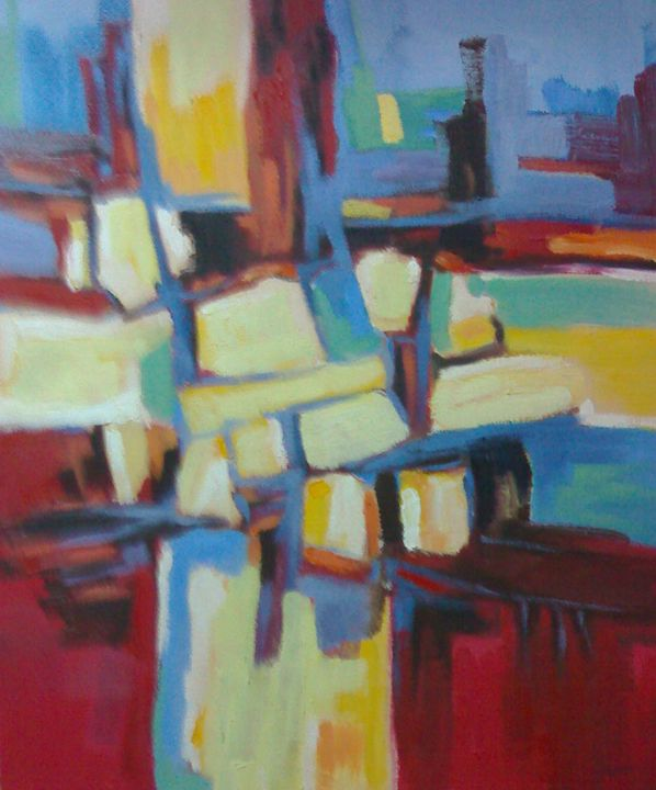 Entre jaune et rouge - Berkan'Art