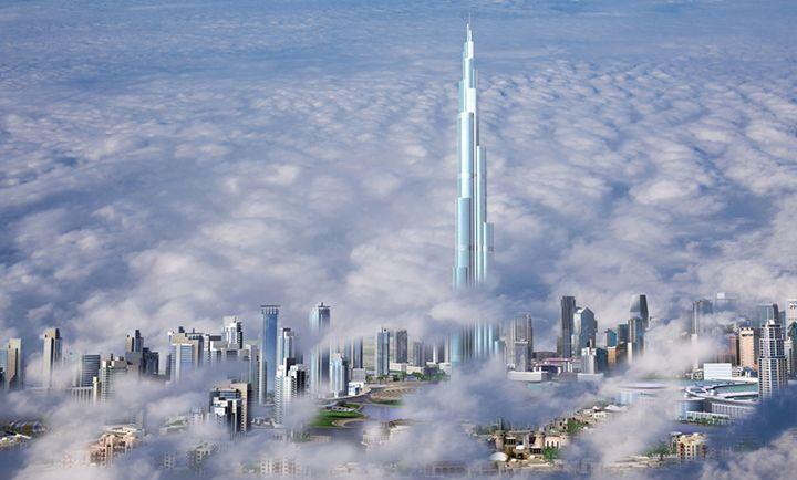 Dubai dans les nuages - Berkan'Art