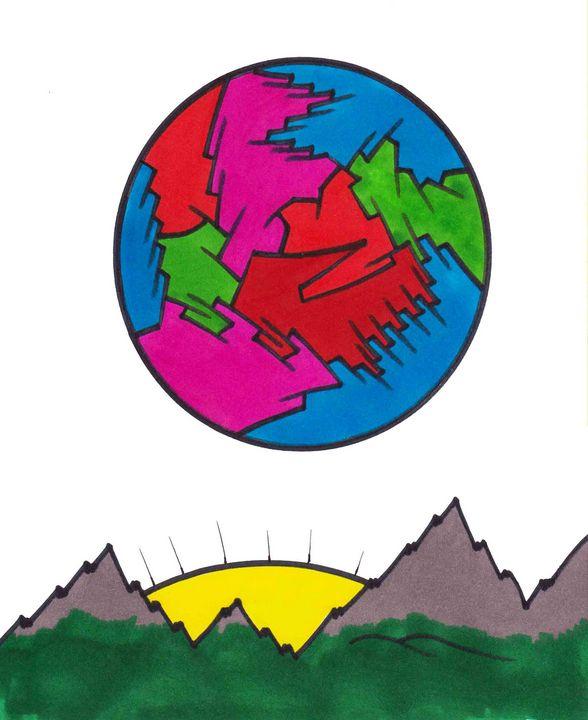 Colorful Moon - Chadwyck Nordlander