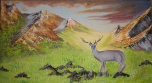 deer canvas paintings