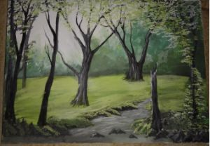forest canvas painting
