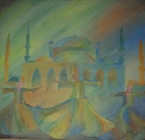 Sufi thinking painting
