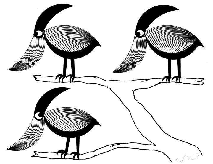 Bird 5 - E.S.Locher