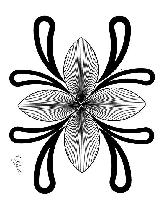 Untitled Flower 2 - E.S.Locher