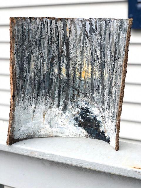 cold winter stream - Barkwood Studio