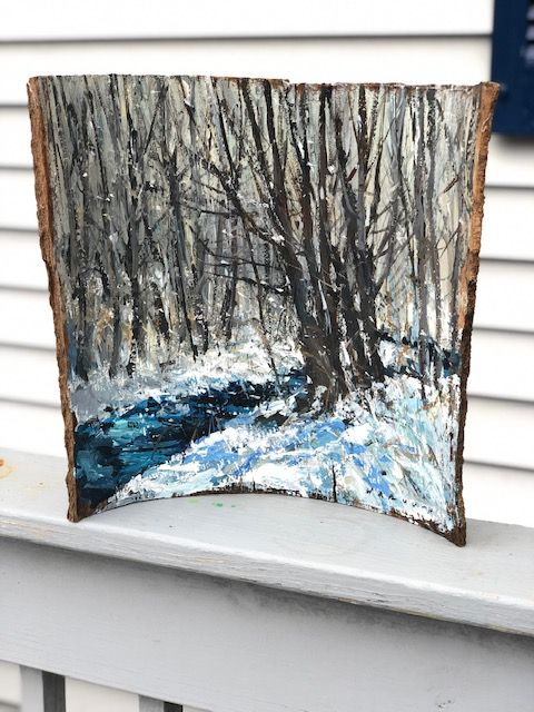 winter stream - Barkwood Studio