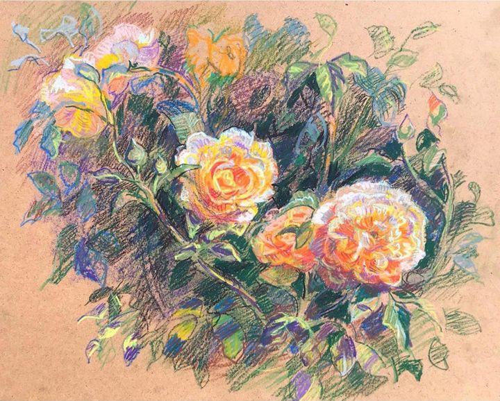 Rose painting - Mavko