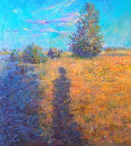 Original meadow oil painting