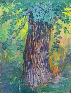 Green tree painting