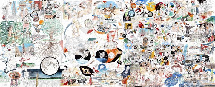 Fresque - Orlando's drawings