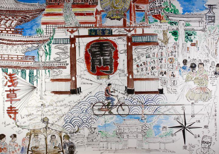 Asakusa & Meiji jingu Tokyo - Orlando's drawings
