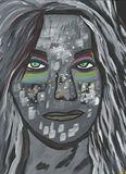 12x9 Acrylic Tribal Portrait