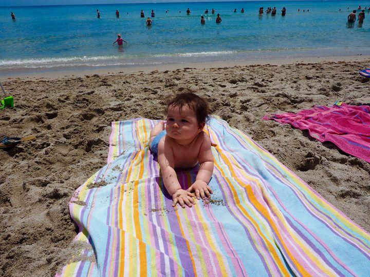 Baby on Beach - Liana