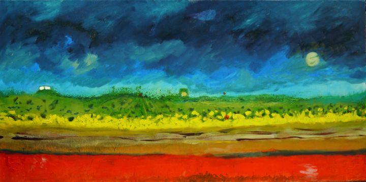 Moon over Red Tide - Robert Canaga's Studio
