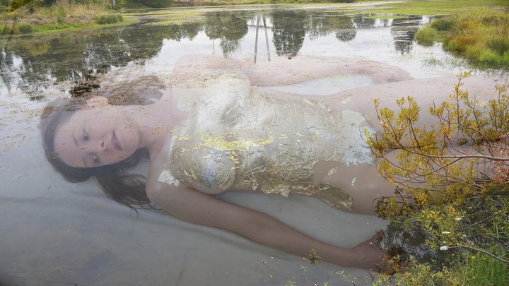 Leah in the Pond - Robert Canaga's Studio