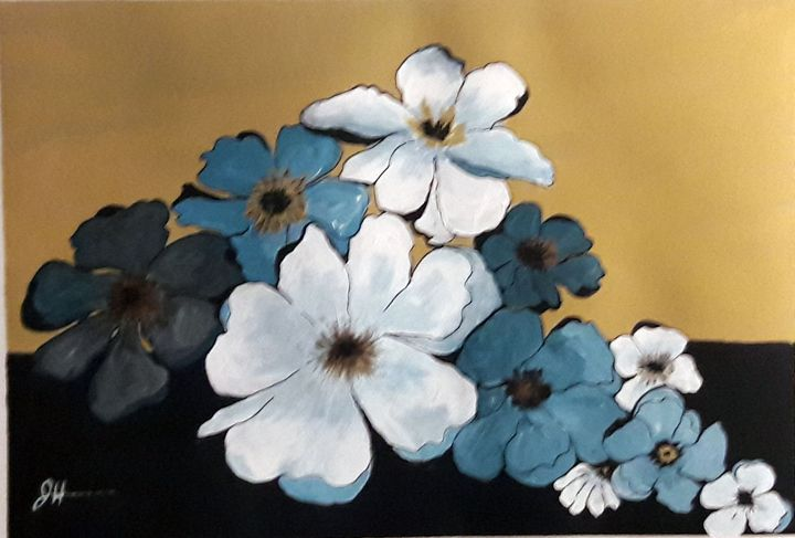 Blue, White and Gold - Flower Shop