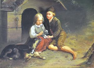 Children With Pet