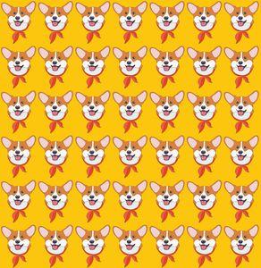 Corgs on orange - Woppy Doppy's