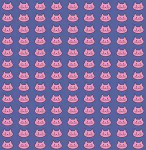 Rose cats on violet