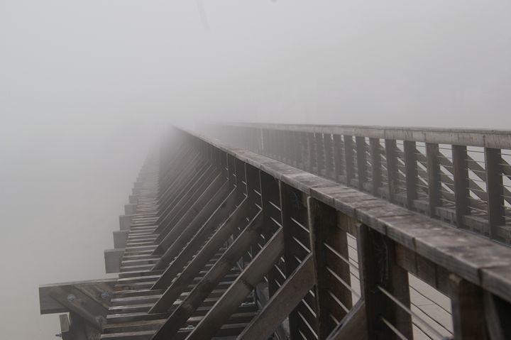 Pier Disappears Into Fog - Julie Butler