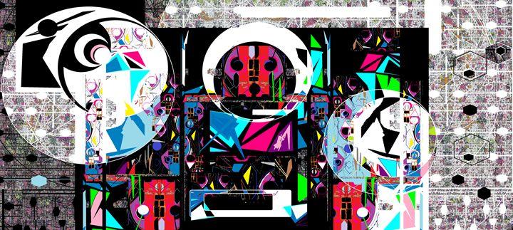 Astro Chimp 33 - Ruby Art