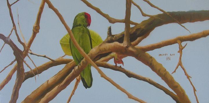Love Bird Painted by Muluken Debebe - fineartethiopia/samuel Ethiopian art Promoter