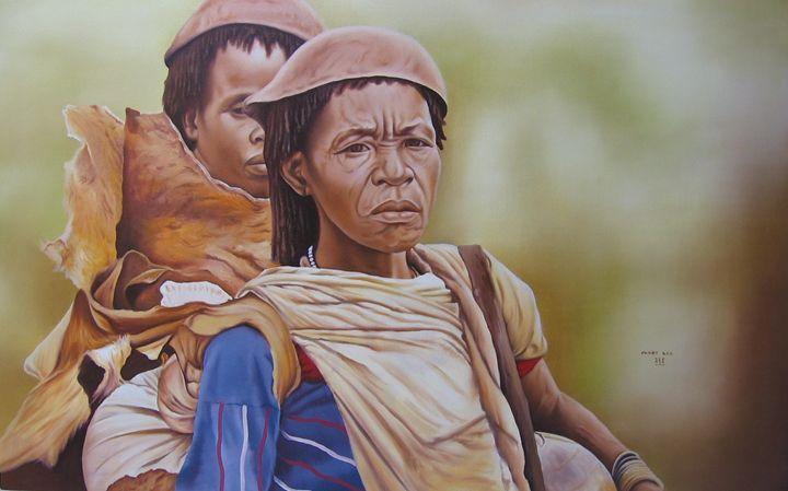 Hammer old Women - fineartethiopia/samuel Ethiopian art Promoter