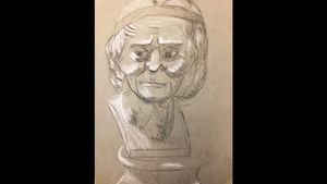 Elder Woman Statue
