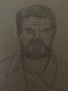 Wanted Joel Sketch Drawing