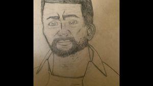 Lee Everett Sketch Drawing