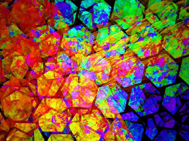 Fractured hexagonal structure - pedroml