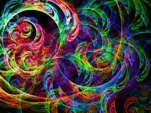 Galactic phosphorescent swirls