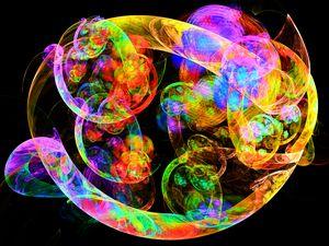 Deformed bubbles in neon colors